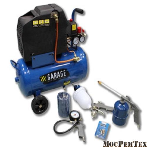 картинка Garage HOME KIT (PK 24.EWD210/1.5 + набор) Компрессор бытовой с набором инструмента
